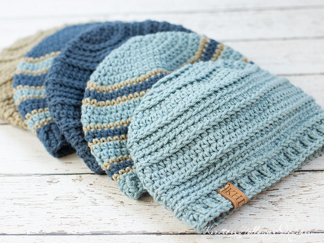 This simple mens winter beanie pattern is quick and easy to crochet! Donate them to shelters, or other organizations that help the needy.