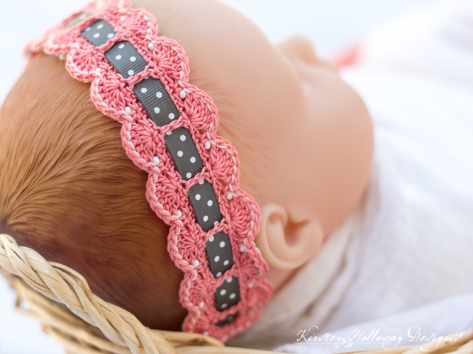 Adding a pretty ribbon makes your baby headband more interesting!