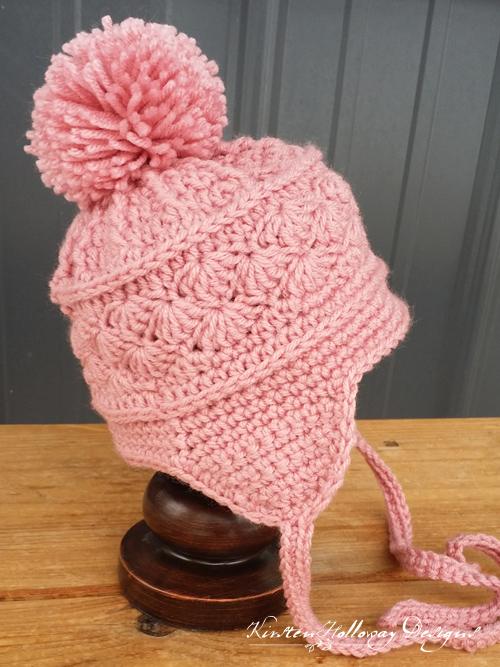 6a3c9e37c67 Pattern - La Vie en Rose Earflap Hat - Kirsten Holloway Designs