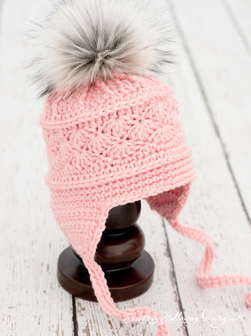 La Vie en Rose Ski Hat, an easy free crochet pattern in 6 sizes for baby to adult!