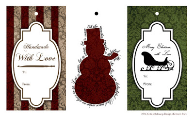 Gift Tags for Crochet and Knit Fiber Artists