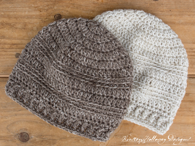Easy crochet beanie hat pattern for beginners. Plain beanies without embellishments.