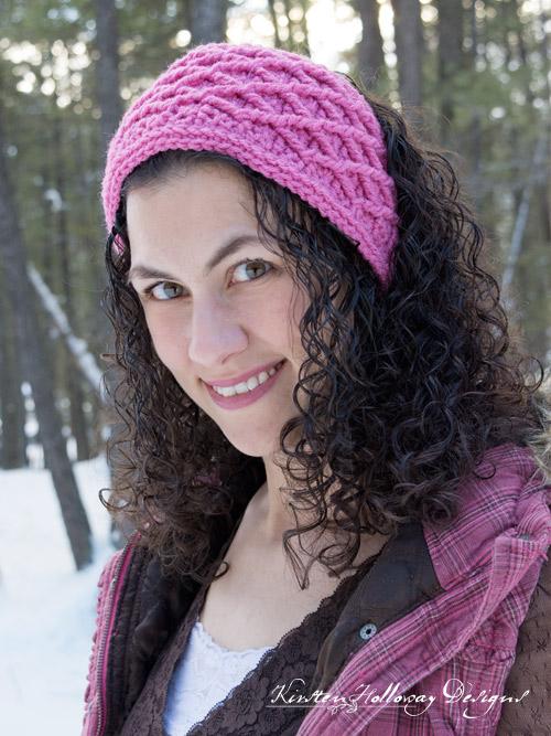 Diamond Stitched headband, free crochet pattern