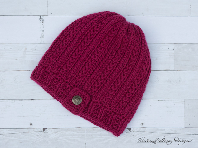 Heartstrings Valentines Slouch Hat Free Crochet pattern for Ladies