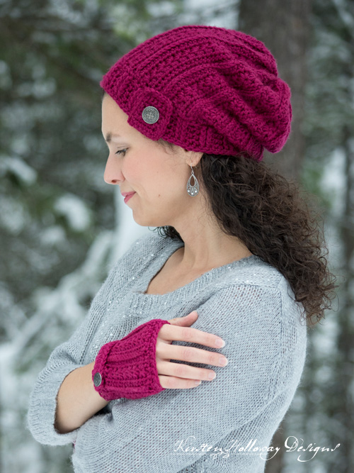 Heartstrings Valentines Slouch Hat Free Crochet pattern for ladies and kids