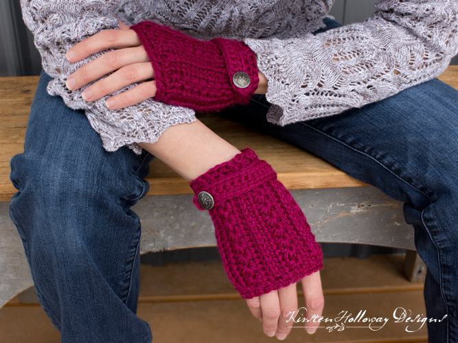 Pattern Heartstrings Fingerless Gloves Kirsten Holloway Designs