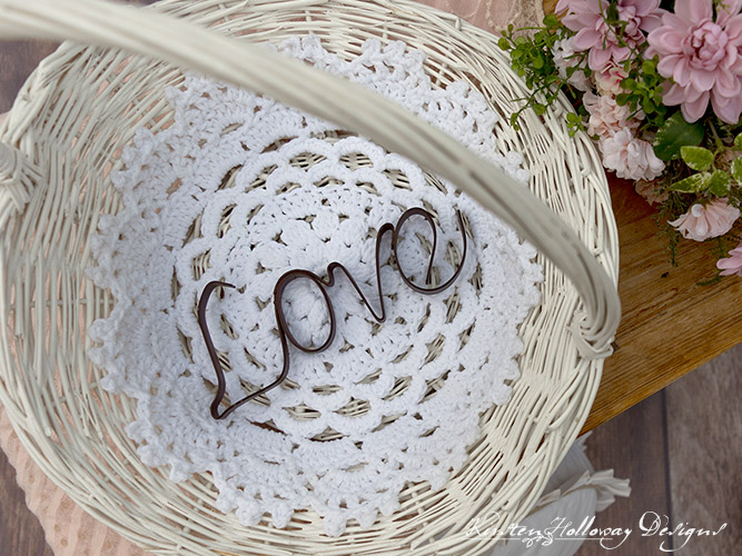 The Garden Party placemat is a pretty crochet pattern that can be used for decorating a variety of special events such as weddings, or graduations.