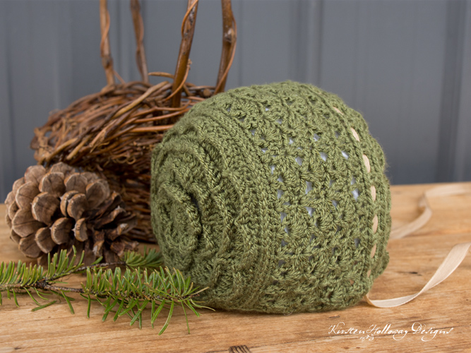 Pattern – Rosemary Green Baby Bonnet