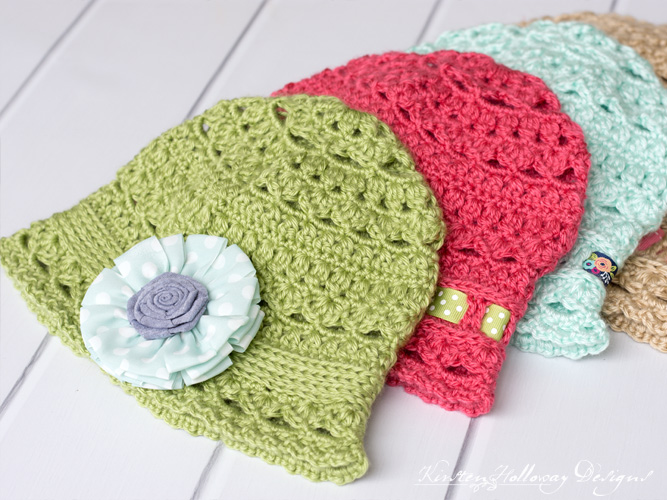 Spring cloche hat crochet patterns for adults, kids and toddlers.