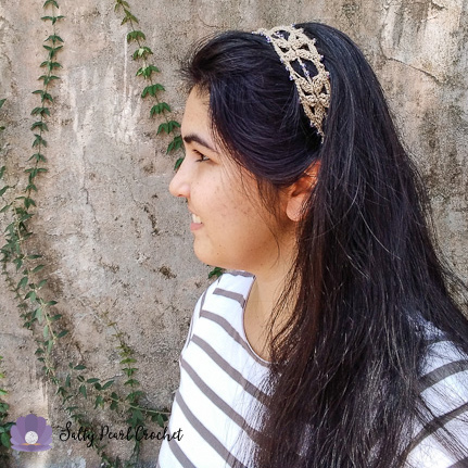 Sand Dollar Lace Headband from Salty Pearl Crochet