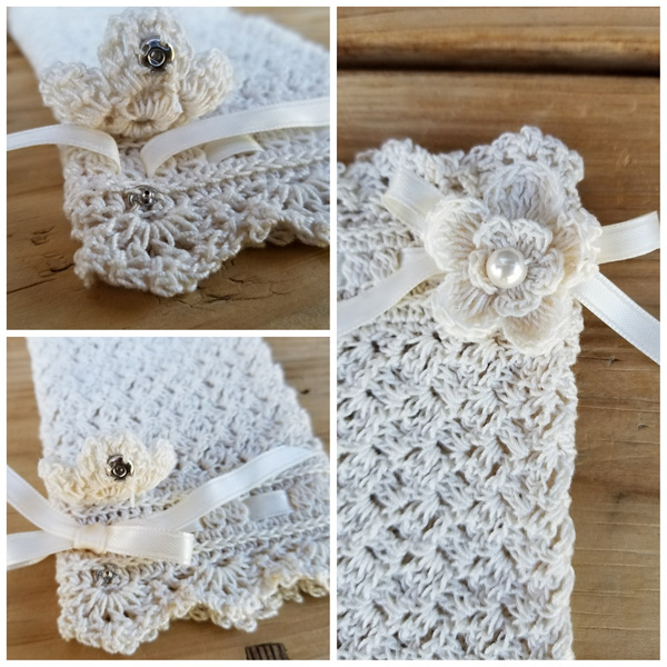 Crochet Lace Wedding Garter Pattern: Wrapped In Lace Fingerless Bridal Gloves Crochet Pattern