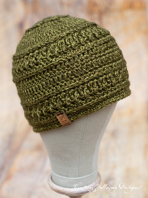 Wanderlust Beanie Crochet Pattern for men. This is an easy pattern that has nice stitch texture.