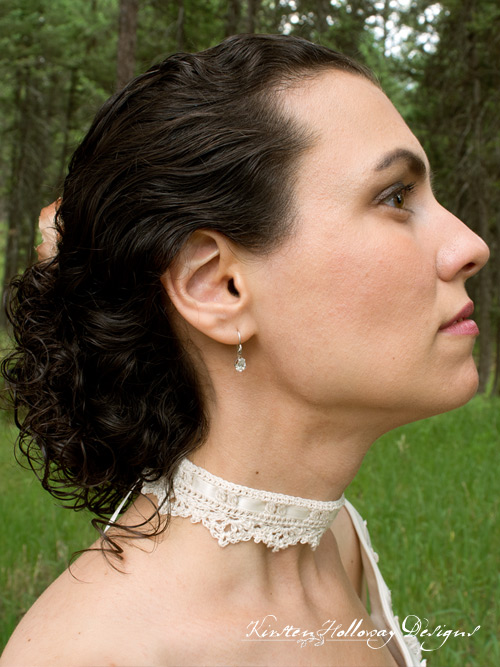Wrapped in Lace Choker, wedding necklace