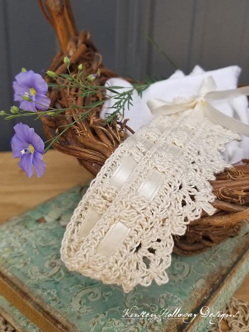 Lace choker, free crochet bridal pattern