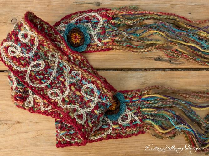 Crochet scrappy scarf/art yarn free pattern