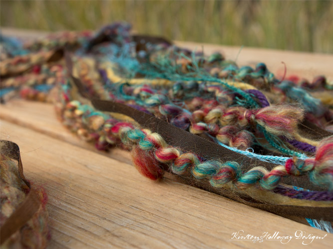 art yarn scarf ends