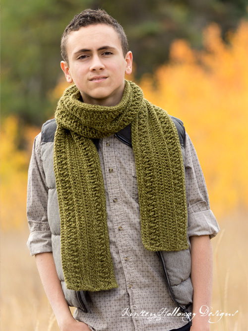 Wanderlust Men's crochet scarf or cowl pattern. Easy enough for beginners to make!