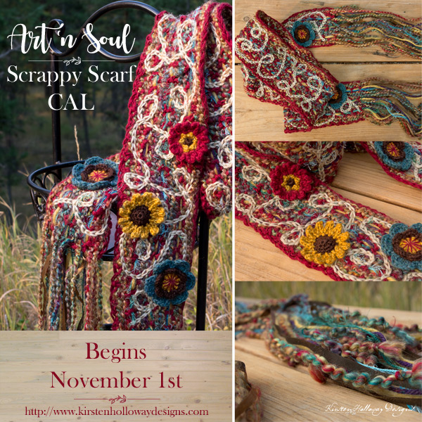 Art n Soul Scrappy Scarf Art Yarn Boho Inspired Crochet Scarf CAL