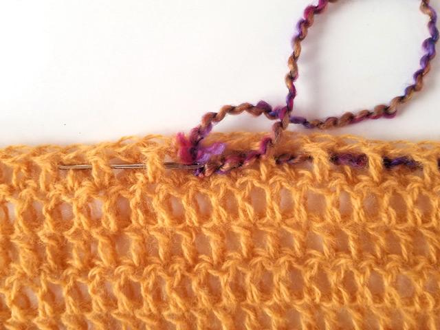 Art Yarn CAL Crochet Weaving Tutorial One Of A Kind Pattern DIY Design