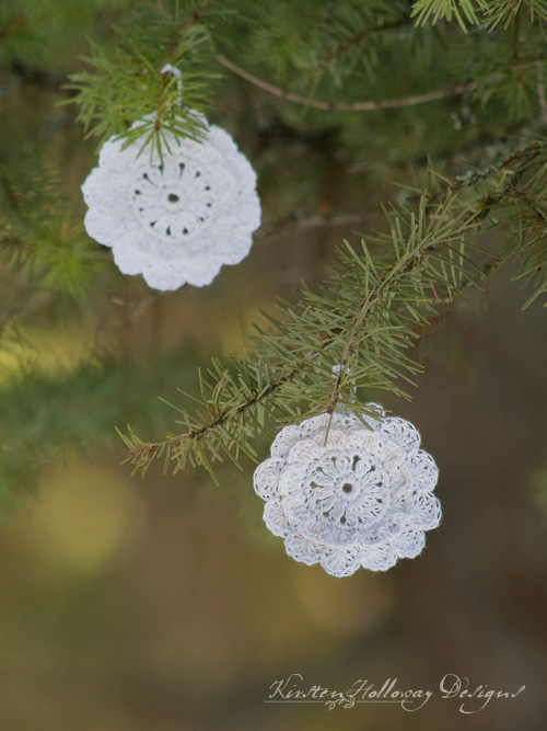 "Pattern – Victorian Blush ""Snowflake"" Vintage Ornaments and Gift Tags"