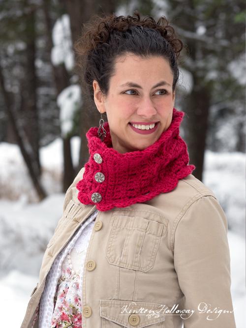 Victorian Blush Muffler – A Free Crochet Cowl Pattern