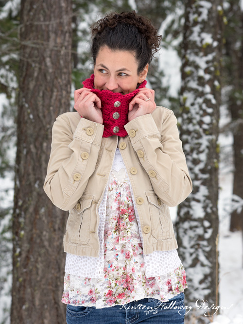 Beautiful DIY Victorian Blush Muffler Neck Warmer Cowl Infinity Scarf Crochet Pattern