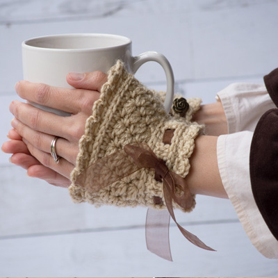 "Pattern – Ribbons and Grace ""Wristers"" Crochet Cuffs"