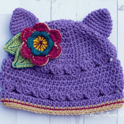 Scalloped Kitty Cat Hat pattern for ages 3 months to adult! A paid pattern on Ravelry. Via Instagram