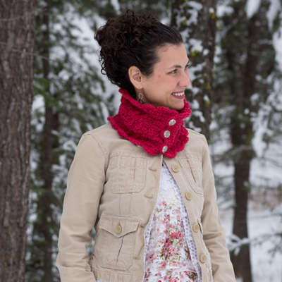 Beautiful DIY Victorian Blush Muffler Neck Warmer Cowl Infinity Scarf Crochet Pattern. Via Instagram