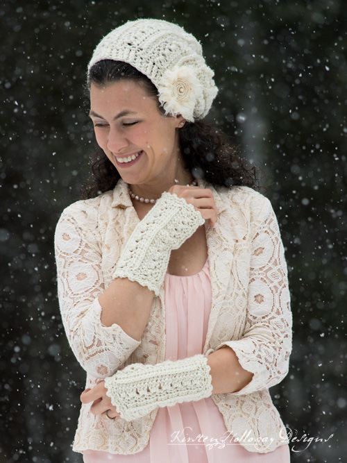 Primrose and Proper Fingerless Gloves. A free crochet pattern for women and teens.
