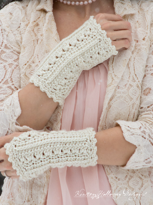 These cute fingerless gloves are a quick, easy crochet project that will keep your hands warm this winter.