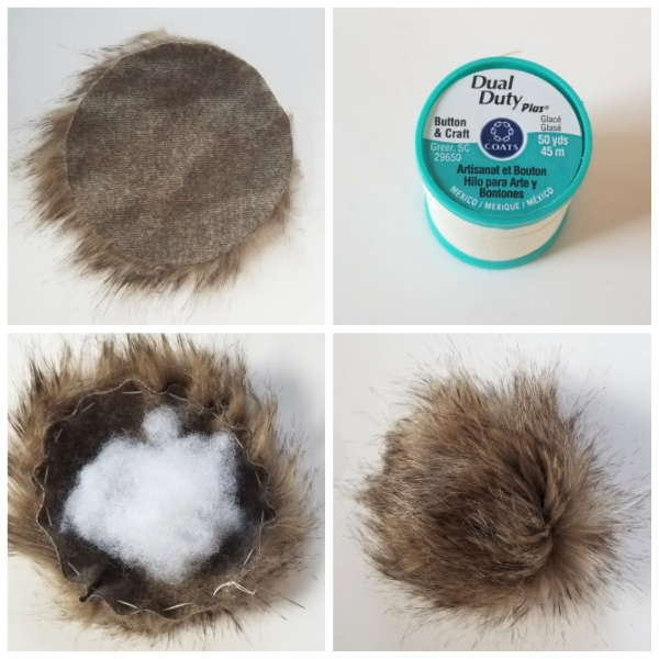 Make a faux fur pom-pom for the tip of your hat with this simple tutorial