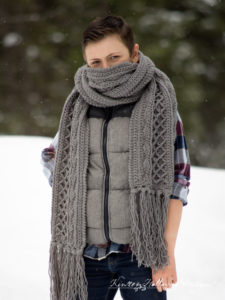Snow Country Super Scarf, Free Unisex Crochet Pattern