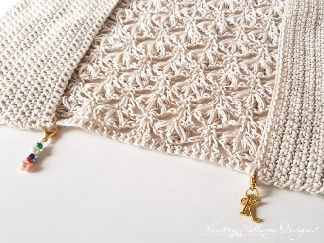 Bible cover crochet pattern, assembly, stitch markers