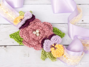 April Flowers – A Beautiful Crochet Headband / Hair Accessory For Toddlers to Adults