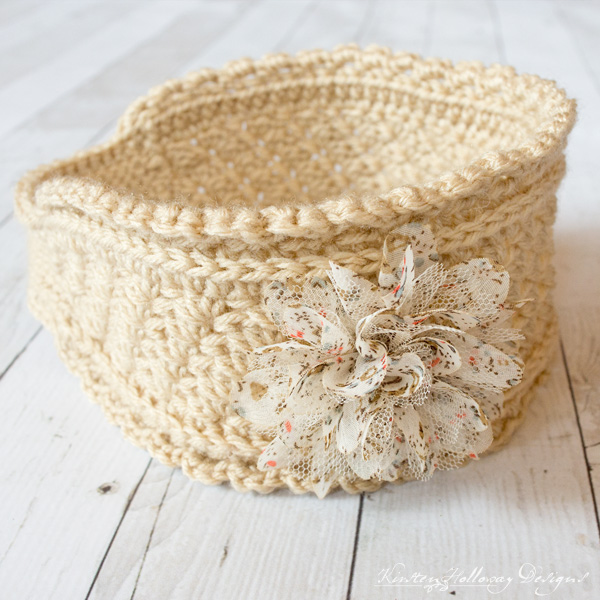 Ribbons and Grace easy crochet headband pattern - with flower