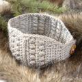Sugar Maple Crochet Headband Pattern, a quck easy crochet headband project for beginners