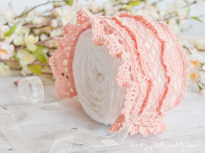 Victoria Rose Baby Bonnet Crochet Pattern – A Beautiful, Vintage Style, Lace Heirloom