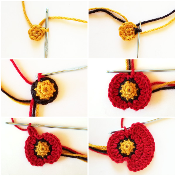 How to crochet a beautiful poppy flower step-by-step tutorial