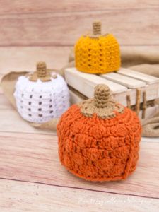 Patchwork Pumpkin Hat, A Textured Crochet Hat Pattern for 0-3 Month-old Babies