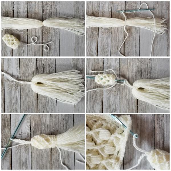 Crochet tassel assembly instructions, part 1