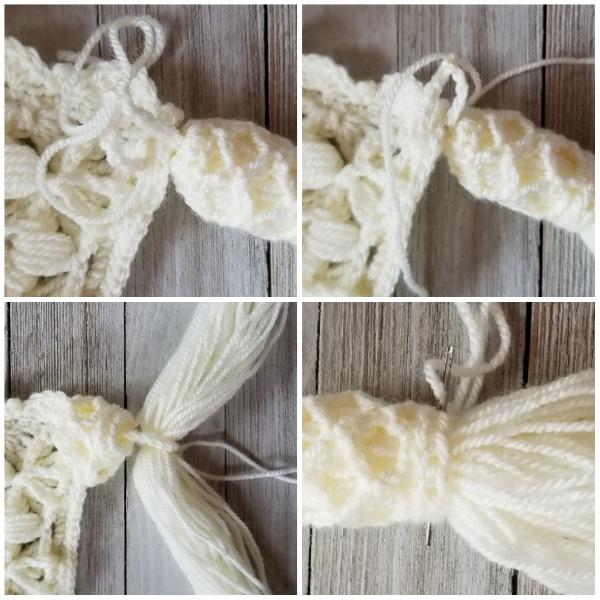 Crochet tassel assembly instructions, part 2