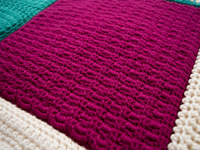 Double Crochet Cluster Square Pattern