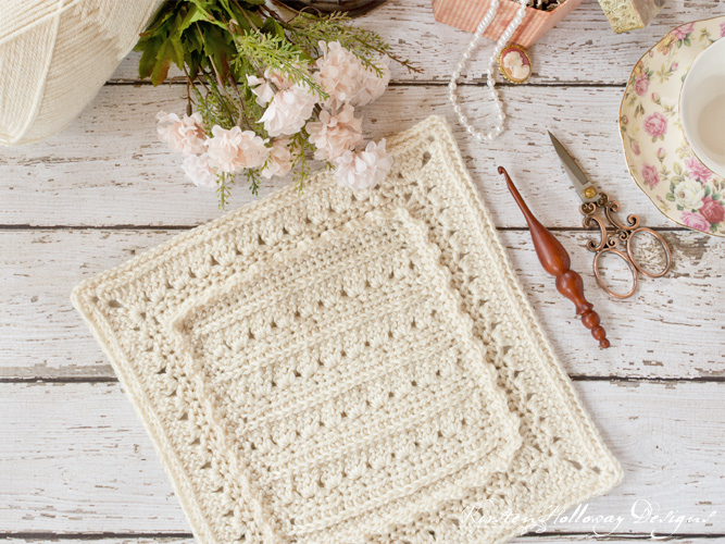 "Crochet a pretty ""granny"" square with this free pattern. Sew them together to make an afghan."
