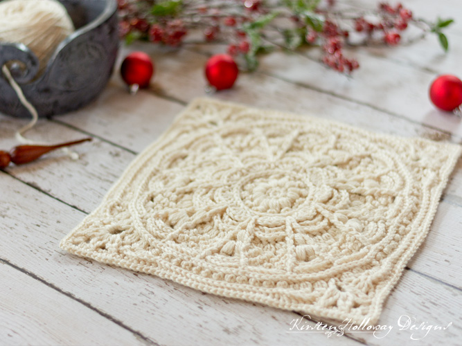 Crochet a beautiful, textured Granny Square with this free crochet pattern project. Sew them together to make an afghan.