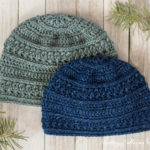 Wanderlust Beanie, free crochet pattern for men or women. Easy and quick to make!