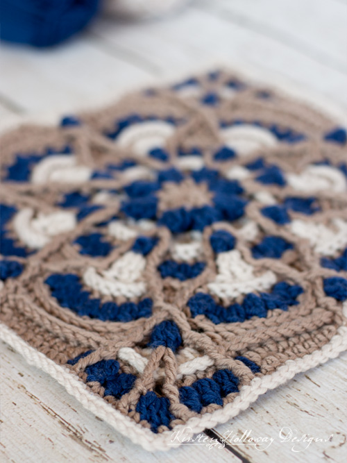 Crochet a beautiful, highly textured afghan square with this free pattern.