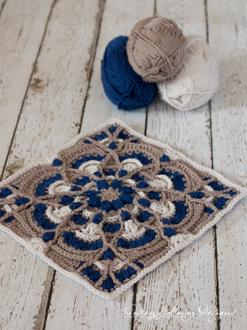 Perfectly Provincial – Free 12″ Crochet Square Pattern