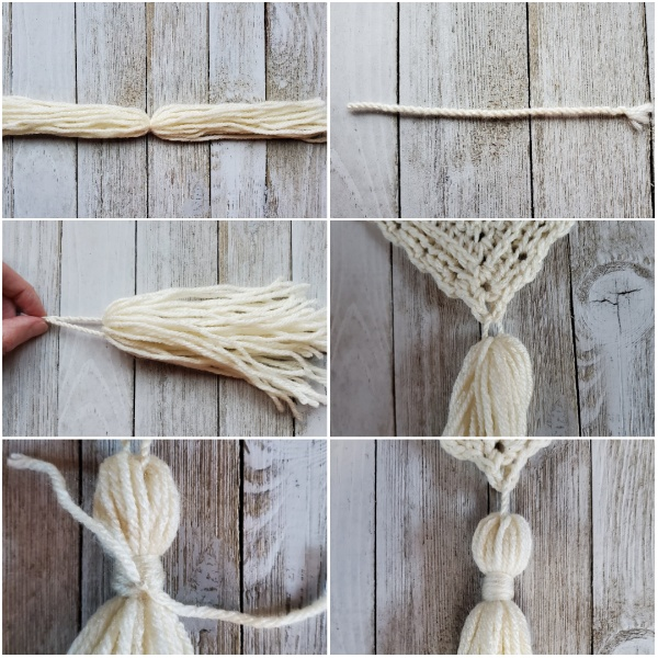 These pictures show you how to make a tassel.