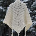 The classic triangle shape and lacy stitches make the Primrose and Proper shawl pattern a quick, easy and, beautiful project to dress up your wardrobe this winter.